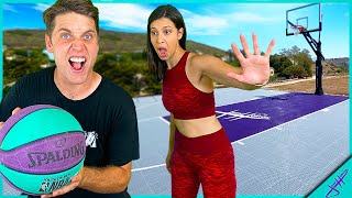 1v1 & Trick Shot H.O.R.S.E. vs CASSIE! (on new basketball court!)