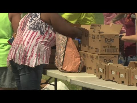 Needy families receive free food at Summer Family Market