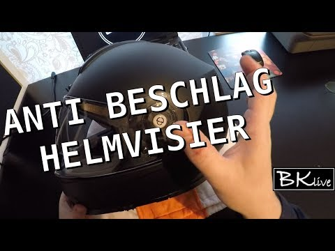Anti beschlag Visier (Schuberth) einsetzen - Motorradhelm [pinlock Scheibe, anti fog, Helm, Visier]
