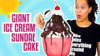 How To Make A Giant Ice Cream Sundae out of CAKE for My BIRTHigh Quality Mp3AY! | Yolanda Gampp | How To Cake It