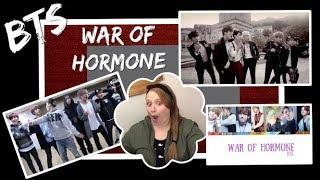 Reacting to BTS - War Of Hormone MV, Lyric Video & Dance Practice