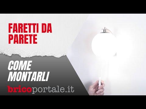 Faretti da parete | Come montare le appliques utilizzando tasselli