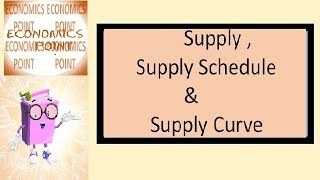 V-30 Supply | Supply Schedule | Supply Curve
