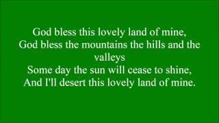God Bless this Lovely Land with lyrics