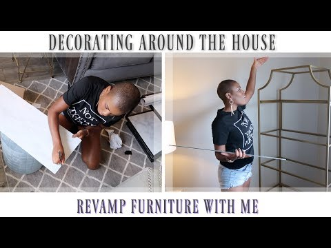 ✨Glam Home✨ DIY MARBLE ROOM DECORATING | Revamp Furniture With Me