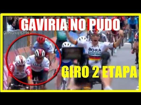 Fernando GAVIRIA Cuarto en 2 ETAPA GIRO de ITALIA Miguel Angel LOPEZ MEJOR JOVEN