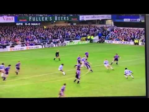 An Italian magazine elected this as the worst 20 seconds of football ever played (QPR vs. Man City, 1993)