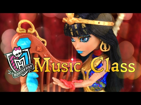 Unbox Daily: Monster High Music Class - Cleo De Nile - Doll Review - 4K