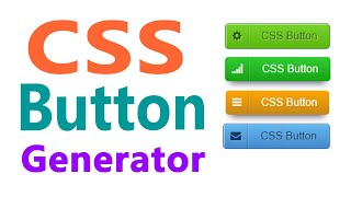 CSS Button Generator  CSS button with icon
