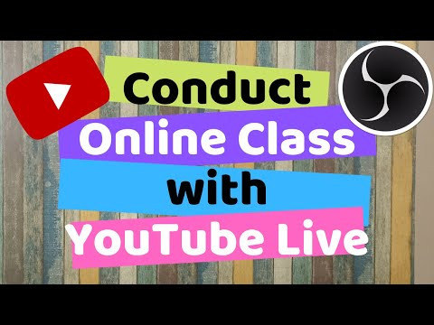 How to use YouTube Live and OBS for Online learning | Conduct Online Classes | Take online lecture