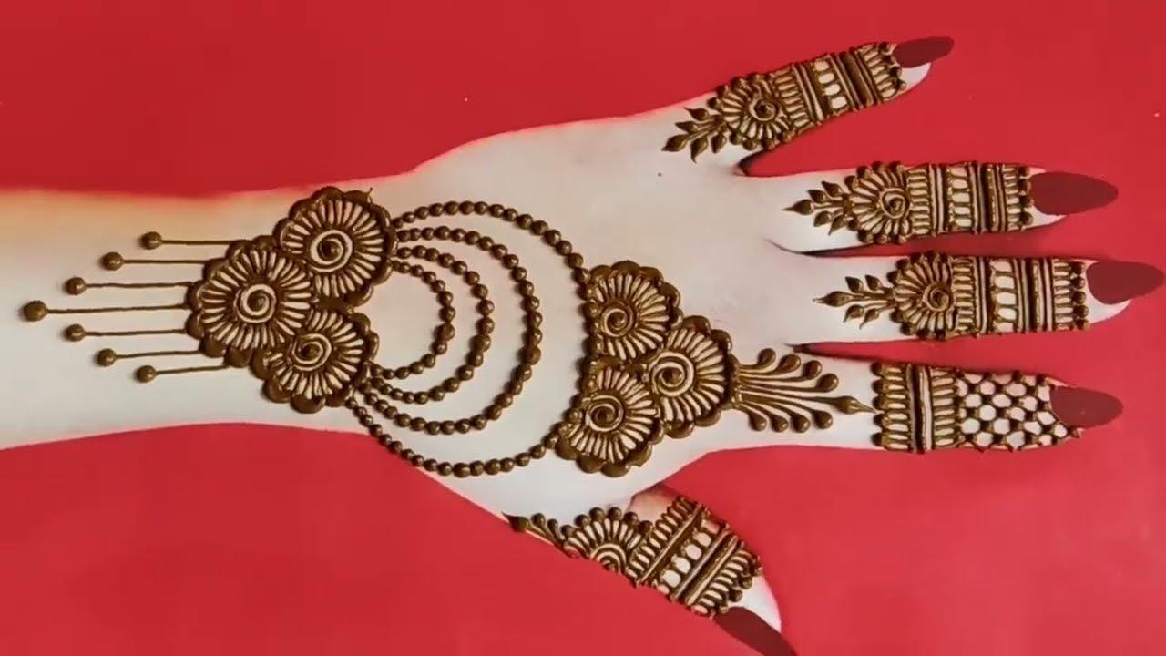 simple arabic mehndi design for beginner by raveena mehndi