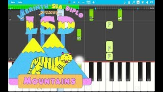 LSD - Mountains Piano Tutorial EASY (Piano Cover)ft. Sia, Diplo, Labrinth