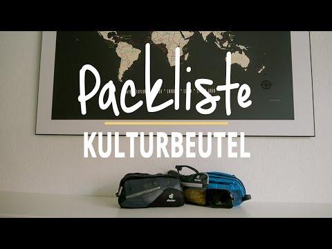 Packliste Kulturbeutel