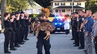 K9 Police Dogs Funeral Processions. Thank You for Your Service.