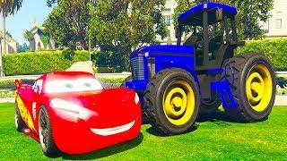 Мультик  для детей про Машинки Синий Трактор Экскаватор Мультик про машинки Тачки Молния Маквин