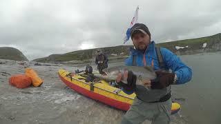 Ловля арктического гольца в реке кара