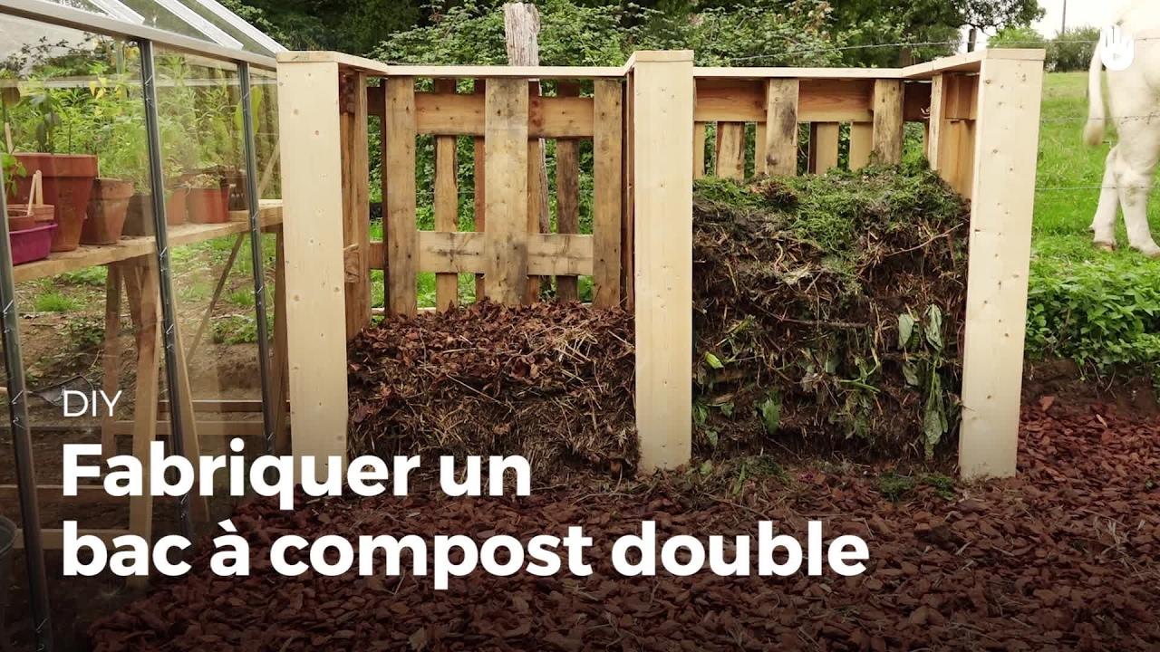 fabriquer un bac compost double faire un compost sikana. Black Bedroom Furniture Sets. Home Design Ideas