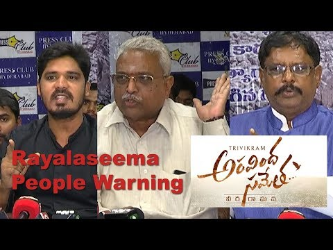 Rayalaseema People Warning to Aravindha Sametha Movie