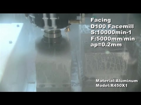 R450X1 Machining example (Aluminium)