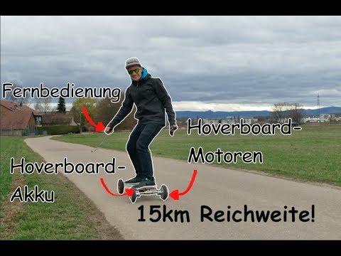 Elektrisches Offroad-Longboard aus Hoverboard für unter 50 Euro selber bauen