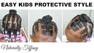 Easy Kids Protective Style! | Kids Natural Hair Care
