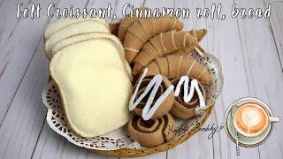 Felt Croissant, Cinnamon Roll, Bread
