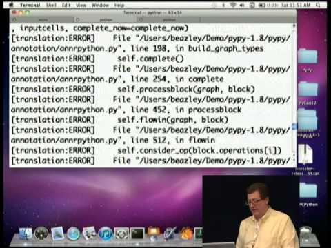 Image from David Beazley Keynote: Tinkering with PyPy
