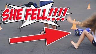 Josh Darnit vs JohnnaMazing Quick-Change Hoverboard Challenge 2017