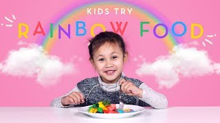 Kids Try Rainbow Food!   Kids Try   HiHo Kids