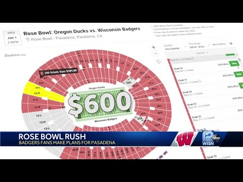 If you want to see the Badgers in the Rose Bowl, it will cost you