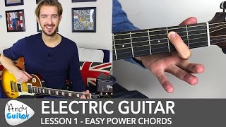 Electric Guitar Lesson 1 – Rock Guitar Lesson for Beginners