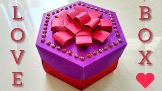 Hexagon Explosion Box / Valentine's Day Gift Ideas/ Birthday Gift Idea Homemade / Handmade Craft