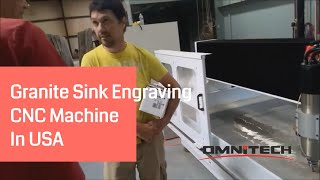 Granite Sink Engraving | Countertop Engraving With CNC Router for Stonework