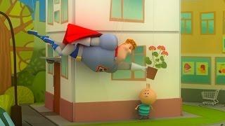 Аркадий Паровозов - Почему опасно ходить под окнами домов - мультфильм детям
