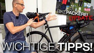 Nach der Fahrt: Hat sich das Bikepacking-Setup bewährt? Tipps: Weniger Essen, Erste-Hilfe-Set, uvm.