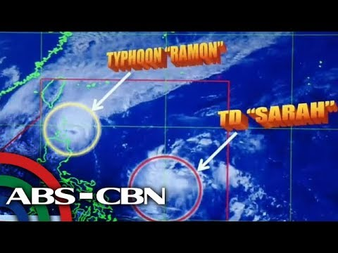 [ABS-CBN]  PAGASA gives updates on Typhoon Ramon, Tropical Depression Sarah