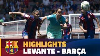 [HIGHLIGHTS] FUTBOL FEM (Lliga): Llevant – FC Barcelona (2-1)