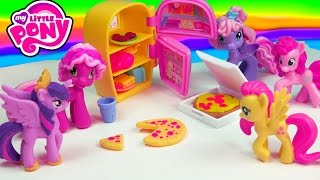 My Little Pony Cooking Party Food Pizza Refrigerator Ponyville MLP Playset Unboxing Toy