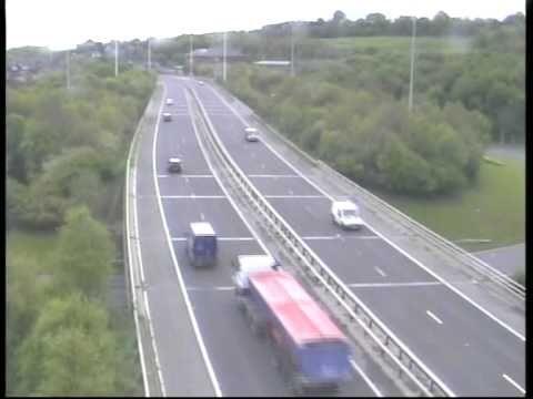 **ORIGINAL** Truck blind spot accident caught on police camera Motorway M621 (M62 Crash Leeds UK)