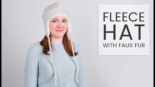 How To Make A Fleece Hat With Faux Fur