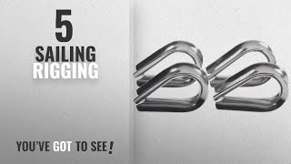 Top 10 Sailing Rigging [2018]: 4 x Stainless Steel - 3mm Wire/Rope Thimbles