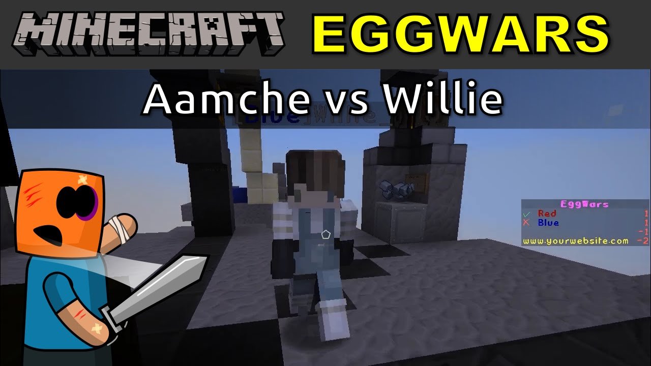 Minecraft PVP EggWars, Aamche vs Willie
