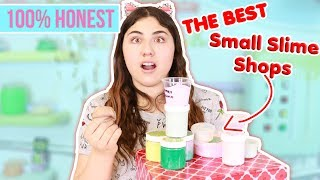 BEST SMALL SLIME SHOPS ~ SUBSCRIBERS SLIME SHOPS 100% HONEST~ Slimeatory #370