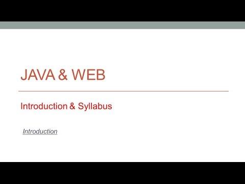 JAVA & WEB | Introduction