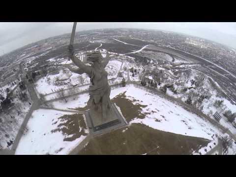 Мамаев Курган с высоты птичьего полёта (