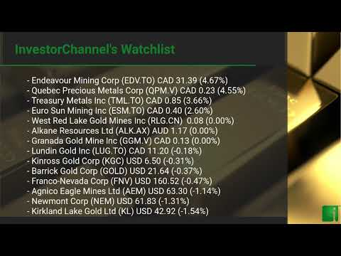 InvestorChannel's Gold Watchlist Update for Wednesday, Aug ... Thumbnail