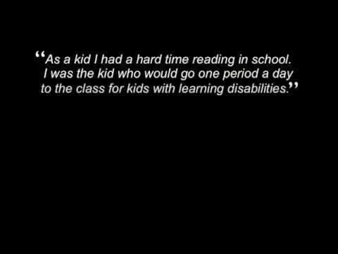 Screenshot of video: Dyslexia awareness video