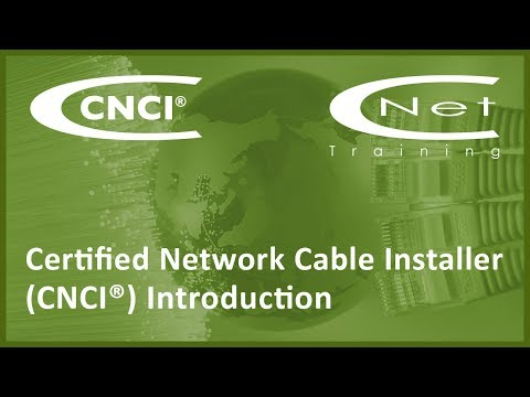 CNCI Certified Network Cable Installer - YouTube