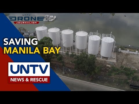 [UNTV]  Sewage treatment plant, trash booms in Manila Bay near completion