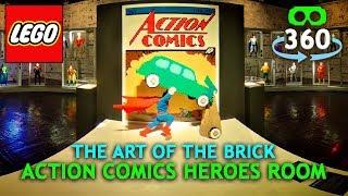 Lego DC Super Heros 360º 4K Virtual Reality - Action Comics - #VR #360Video
